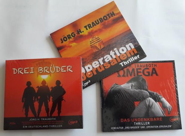 "Hörbuchset ""Drei Brüder"", ""Operation Jerusalem"" und ""Omega"""